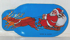 RARE 1950's TIN LITHO CLICKER Christmas TOY NOISEMAKER Flying Santa MINT Japan