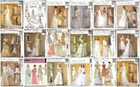 OOP Bridal Wedding Gown Bridesmaid Dress Misses Size McCalls Sewing Pattern