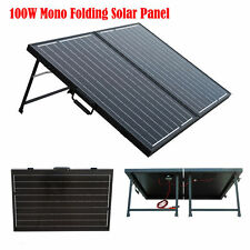 Portable Complet Kit 100W Suitcase Folding Solar Panel 12V Battery Off Grid RV