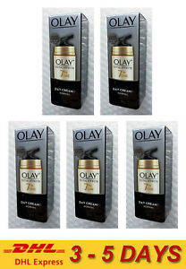 5 x Olay Total Effects 7-in-1 Anti-Ageing Day Cream Younger Looking Normal 20ml