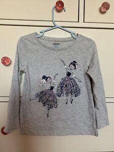 Gymboree Little Girls Child Tee shirt Ballerina Dancers Size 4 XS