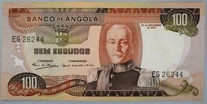 Ek // BILLET  100 escudos Angola Portuguaise 1972 Marechal Carmona UNC
