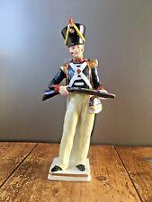 RARE SITZENDORF QUALITY PORCELAIN MODEL SOLDIER LIGHT INFANTRY 1830 FIGURINE