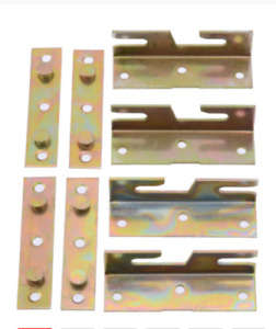 4 Sets Furniture Wood Bed Rail Bracket Bed Hinge Fitting Snap Connectors For Fur