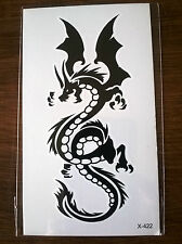 BLACK AND WHITE DRAGON TEMPORARY TATTOO 110mm X 60mm X422