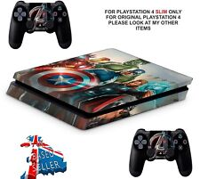 AVENGERS PS4 SLIM**TEXTURED VINYL ! ** PROTECTIVE SKINS DECALS WRAP STICKERS