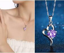 2018 New products 925 silver Cordate necklace women fashion jewelry Purple Gifts