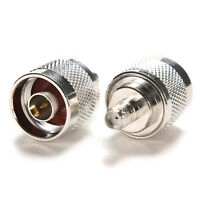F Type Female Jack to N TYPE Male Plug Straight Adapter RF Connector Converter^-