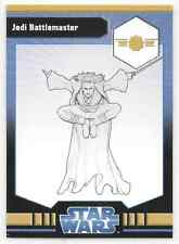 2009 Star Wars Miniatures Jedi Battlemaster Stat Card Only Swm Mini