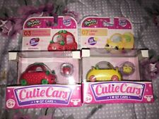 NEW! Lot Of 2 Shopkins Cutie Cars Lemon Limo #07 & Strawberry Speedy Seeds #03