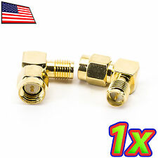 1x 90 Degree Right Angle RF RC Wifi Antenna Adapter SMA Male to RP-SMA Female