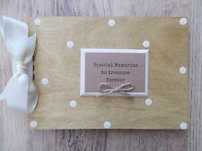 PERSONALISED TREASURED MEMORY WOODEN SCRAPBOOK/PHOTO BOOK /MEMORIES