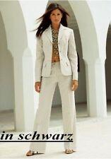 2 piezas traje chaqueta y pantalón LAURA SCOTT NUEVO k-gr.20 (40) Negro a rayas
