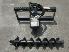 Lowe Bp 210 Round Auger Drive With 9 Auger Bit Fits Skid Steer Loader Planetary