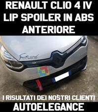 LIP SPOILER SOTTO PARAURTI ANTERIORE PER RENAULT CLIO IV 2012+ ABS NERO .-