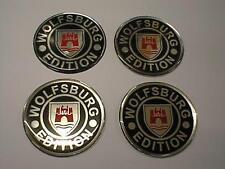 60mm Alloy Wheel Center Centre Badges WOLFSBURG vw