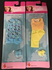 Lot of 2 Mattel Barbie Dreamy Touches Fashions Clothes for Dolls 2001