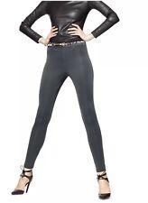 NWT Women's HUE Scuba Leggings Back Pocket Real Belt Loops Pants Asphalt Size XS