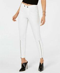 HUE Extreme Zip Hem Denim Skimmer Leggings White Size XS $46 - NWT