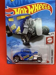 2021 HOT WHEELS #27 - '32 Ford (Blue DOS) - Case F Long Card) New