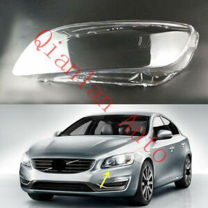 Left Side Lucency Headlight Cover With Glue For Volvo S60 2014-2018 V60 2015-18
