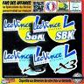 4 stickers autocollant Leo Vince sbk x3 sponsor decal