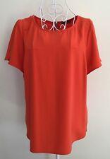 JACQUI-E Bright Orange Short Sleeve Top-size 12