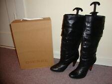 Diesel Leder Stiefel schwarz Größe 38/5 TOP Zustand! NP: 300,00€