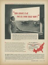 1946 Esso Aviation Products Ad Teterboro Air Terminal New Jersey Airport Travel