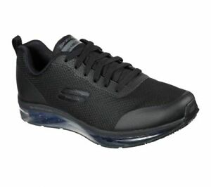 Skechers Men's Relaxed Fit Skech-Air Chamness SR 77534 Black A3