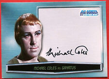 "Dr Who ""Big Screen"" - MICHAEL COLES as GANATUS, Autograph Card Strictly Ink 2003"