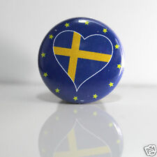 2 Badges Europe [25mm] PIN BACK BUTTON Suède