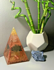 HAND MADE COPPER AND CRYSTAL Orgone Pyramids