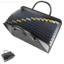 Expanding File Folder Organizer Portable Storage Document Holder 13 Pockets Bag