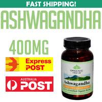 ORGANIC INDIA Ashwagandha 90 caps 0851469000168 AU STOCK Stress Vitality Support