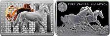 Belarus 20 roubles 2011 Silver Akhal-Teke horse