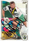 ✺Signed✺ 2002 CANBERRA RAIDERS NRL Card SIMON WOOLFORD