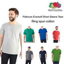 NWT Fruit of the Loom Men's Platinum Eversoft Short Sleeve Crew Neck T Shirts