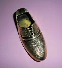 3.5'' Vintage Brass Shoe Ashtray Handmade Home Decor Gifts Collectible christmas