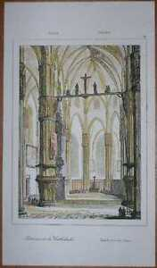 1835 print INTERIOR OF MILANO CATHEDRAL, ITALY (38)