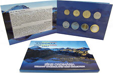 Andorra KMS 2007 Stempelglanz Kursmünzensatz Münzen vorm Euro im Folder