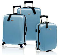 Blue Traveler's Choice Freedom 3-Piece Rolling Luggage Spinner Suitcase Bag Set