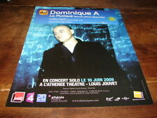 DOMINIQUE A - PUBLICITE LA MUSIQUE CONCERT SOLO !!!!!!!