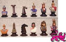 Chess Set Pieces hand painted pewter Ancient Egypt vs Rome NEW