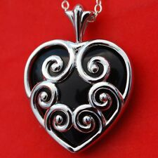"Necklace New 18"" Sterling Silver Chain Gorgeous Solid 925 Sterling Silver Heart"