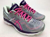 Asics Womens Gel Kayano 23 Silver Pink Running Shoes Sneakers Sz 7.5 M T696N