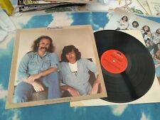 CROSBY & NASH - WHISTLING DOWN THE WIRE GERMAN LP W/ INSERT EXCELLENT CONDITION