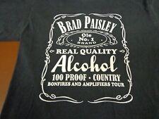 BRAD PAISLEY The  Ole No. 1 Brand Alcohol 100 Proof Country T-Shirt Medium  A2