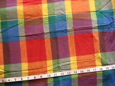 100% Cotton Fabric Plaid in Red/Orange/Blue/Purple/Yellow/Green/Gold