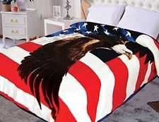 Hiyoko American Eagle Flag Mink Blanket Throw Bedspread Comforter Cover 90x75